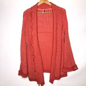 Free People Pink Coral Sweater Cardigan Size:XS